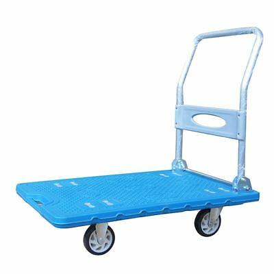 Heavy Duty Platform Trolley Plastic Warehouse Transport 300KG 552166