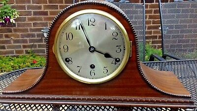 Napoleon Hat Style German Westminter Chimming Clock Working Order