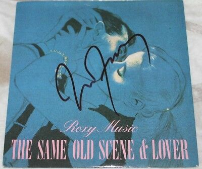 "Bryan Ferry Roxy Music Signed 7"" Vinyl Picture Sleeve."