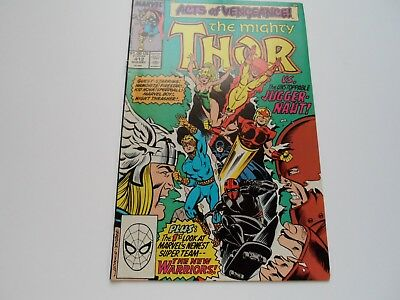 Thor 412 (1989) VFN FIRST FULL NEW WARRIORS (TV Show, Hot!)