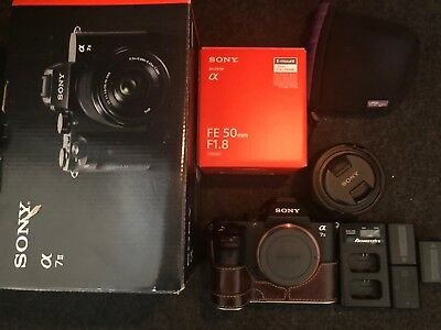 Sony Alpha a7 II Mirrorless Digital Camera With 50mm F1.8 Lens And Accessories