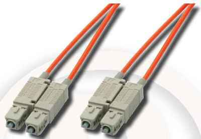 FIBRE OPTIC PATCH LEAD ~ 0.5m SC-SC ~ MULTIMODE DUPLEX