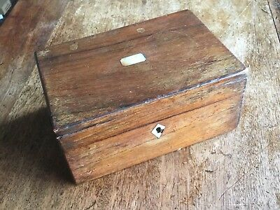 vintage wooden box with key