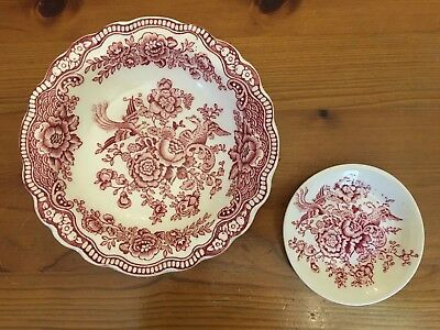 """""""Bristol"""" Crown Ducal England Small Bowl & Trinket Dish (2items) Excellent Cond"""