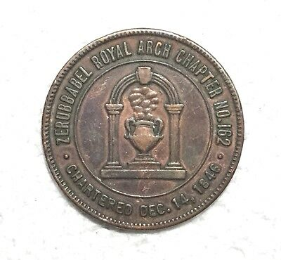 Zerubbabel Royal Arch Chapter No 162, One Penny Masonic Penny/token