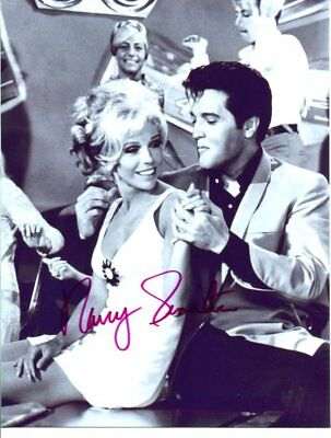 ELVIS PRESLEY co-star NANCY SINATRA autographed HAND SIGNED 2850