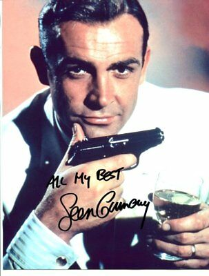 james bond SEAN CONNERY  autograph HAND SIGNED 2860