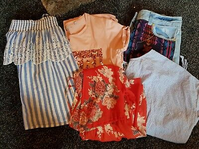 Ladies  Size 12 Summer Bundle  Primark Warehouse Next New Look Tops Shorts