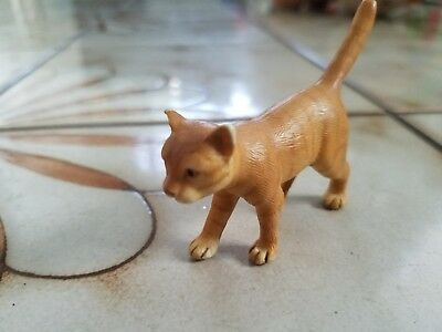 Schleich Orange Striped Cat Walking