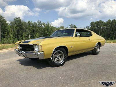 Chevrolet Chevelle SS 454 1971 Chevelle SS 454 LS5 #'s Match Build Sheet Factory A/C Cowl Induction
