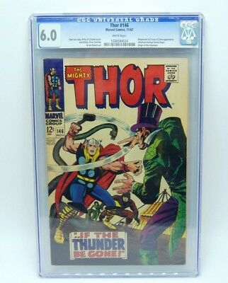Thor # 146  CGC 6.0 Marvel 1967  White pages