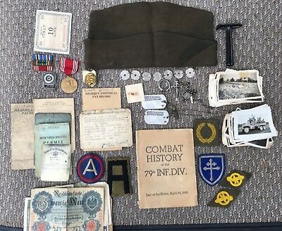 Wwii 79Th Infantry Division Battle Of The Bulge Named Grouping Dog Tags Photos
