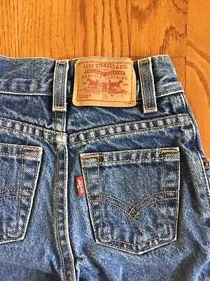 1 Pair Vintage LEVI'S 550 Red Tab -3T Relaxed Slim Blue Jeans -3 T Toddler -Levi