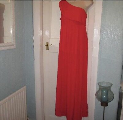 Size 12 Red 1 shoulder Maxi dress by ASOS MATERNITY
