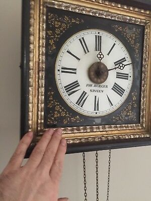 Antique Black Forest Clock From WW2 Prison Camp.