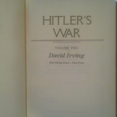 HITLER'S WAR Volume Two by David Irving Pub 1977 Viking Press Hardback