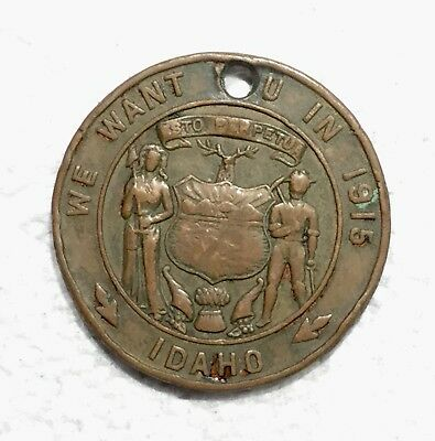 WE WANT YOU IN 1915, IDAHO, SOVEREIGN GRAND LODGE I O O F SEATT_WN 1909, punched