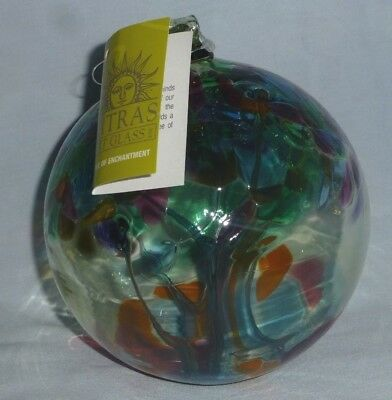 "Kitras Art Glass - 6"" Hand Blown Glass Ornament -Tree Of Enchantment"