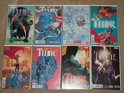 Thor (Female) #1 - 8 Complete Run with Variant Cover #1