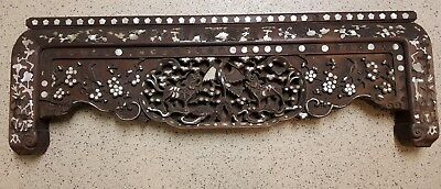 Significant Antique Chinese carved wood panel