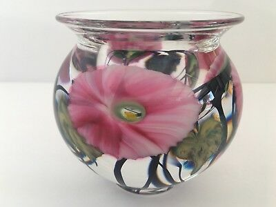 Jeremiah LOTTON 2002 Morning Glory Studio Art Glass Blown Vase Signed
