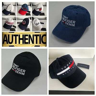 NWT Tommy Hilfiger Cotton Baseball Cap Men Women Unisex Hat One Size  Adjustable afc479ecffe8