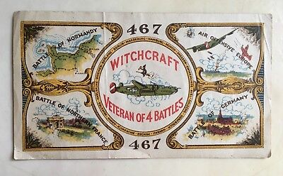 original WWII 467TH BOMB GROUP SHORT SNORTER / B-24 WITCHCRAFT
