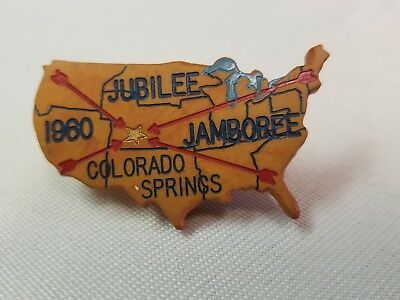 Boy Scout Neckerchief Slide 1960 Colorado Springs National Jamboree