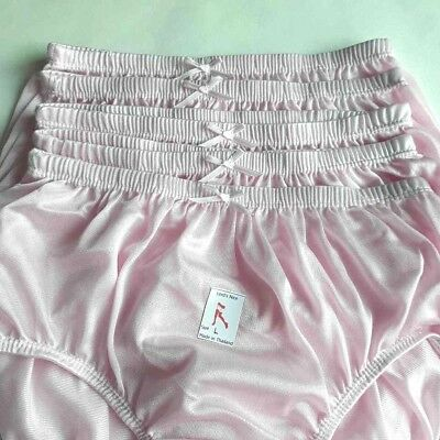 4bce9f68c24 5Pink size L Soft Nylon Satin Knickers Panties Sissy Gusset Women Men  Underwear
