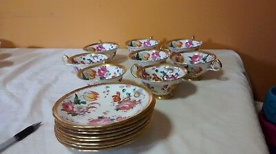 16 piece Royal Chelsea floral with gold rim bone China used but in good conditio