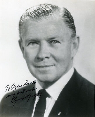 Autographed George Murphy, movie star and California politician