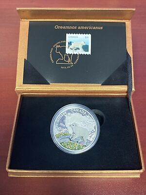 The Mountain Goat Stamp And $20 Pure Silver Coin Set L.E. RCM Canada New