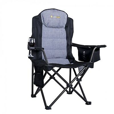 NEW Oztrail  Big Boy Arm Chair Black - in BLACK - Camping Chairs & Beds
