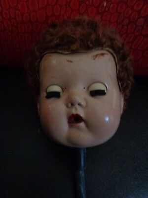 1950's Tiny Tears Doll Head Only With Wig!!!!