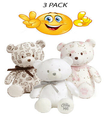 """3 Pack Baby Gund - Safari Bear - Vintage Rose - Welcome To The World - 10"""""""
