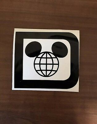 WDW Disney D Mickey earth Epcot vinyl decal car laptop yeti YOU PICK COLOR NEW
