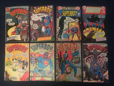 SUPERBOY Comic Lot of 8 Silver Age books: #112, 142, 143, 169, 172,175,189 & 193