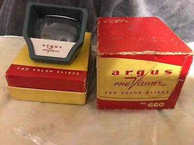 Portable slide viewer hand held Argus previewer
