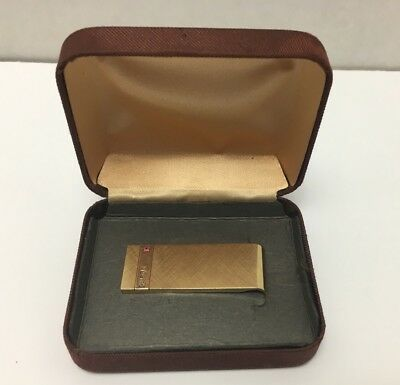 Vintage Collectible Coca Cola Coke Josten's Gold Plated Money Clip For Employees