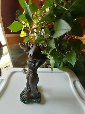 """BIG SKY CARVERS """"bearfoots mooses"""" yr 2000 approx 9"""" resin figurine collectible"""