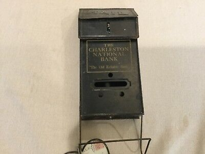 Rare vintage The Charleston National Bank advertising mailbox