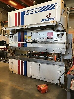Pacific J Series 140 Ton x 10 foot Press Brake US Navy Trade in - limited use