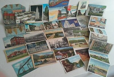 Vintage postcards Great Lakes /East coast States Chicago Minnesota Booklets