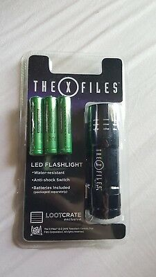 Loot Crate Exclusive X-Files LED Flashlight with batteries, Invasion