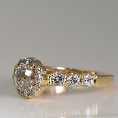 34c571181 Crown of Light Natural 2.45 ctw Diamond Engagement Ring Yellow Gold 14k
