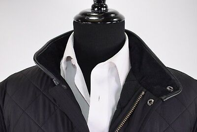 """Barbour NWT """"Defect"""" Powell Quilt Jacket Size XL in Solid Black"""