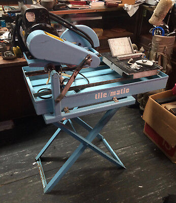 """Original Target Tilematic Saw Ta10100 Heavy Duty 10"""" Stand + Attachments Excond"""
