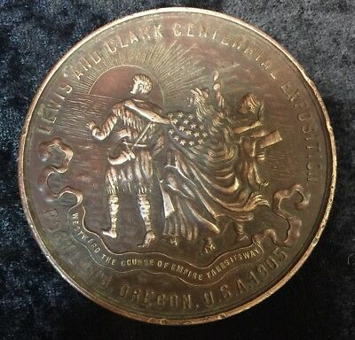 1905  Lewis and Clark Commerative Coin Centennia Exposition Medal Portland OR