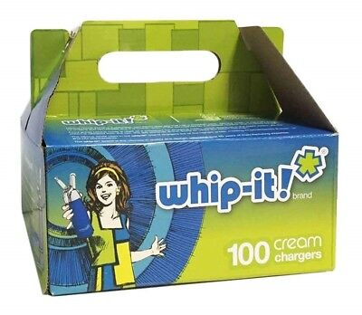 Whip-it! Cream Chargers: 100 Pack x 2 (200 Bulbs) of Nitrous Oxide (N2O)
