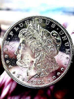 1881s MORGAN SUPERSTAR PL ++++  HIGH  BU++  VERY PQ REAL GREAT EYE APPEAL